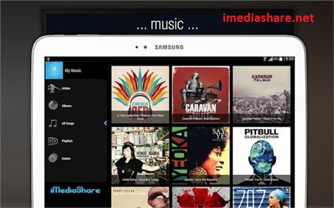 play music and photos using iMediaShare app on pc